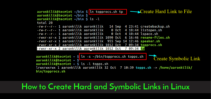 Create Hard and Symbolic Links in Linux