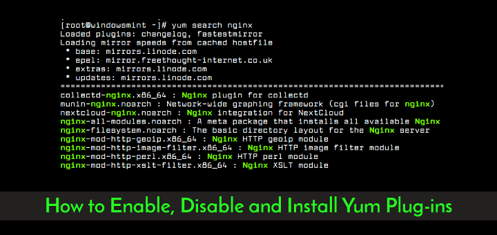 How to Enable, Disable and Install Yum Plug-ins