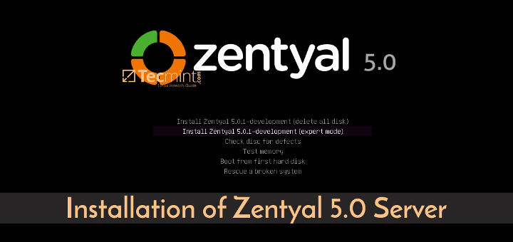 Install Zentyal Server