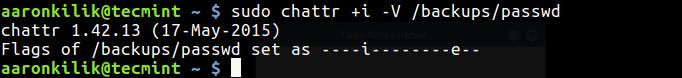 Make File Undeletable in Linux