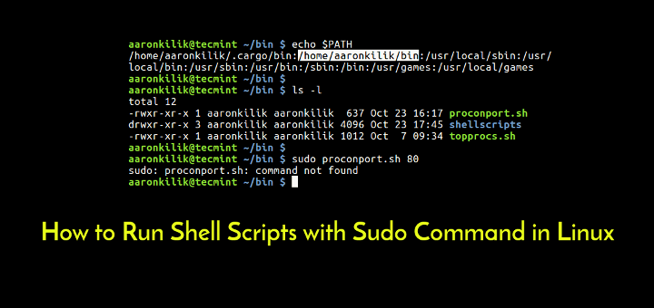 Run Scripts with Sudo Command