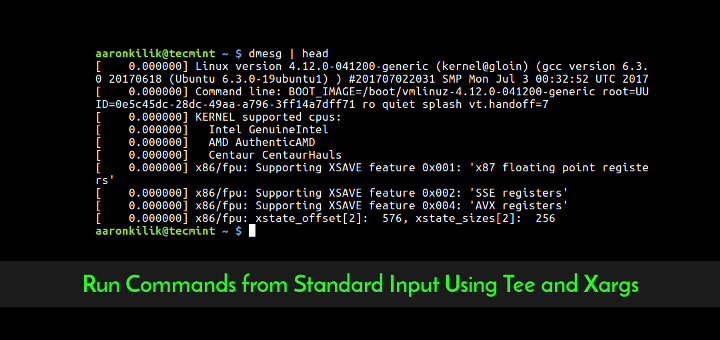 Linux Tee and Xargs Command Examples