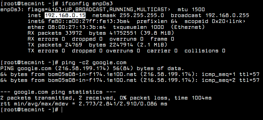 Verify Network Configuration
