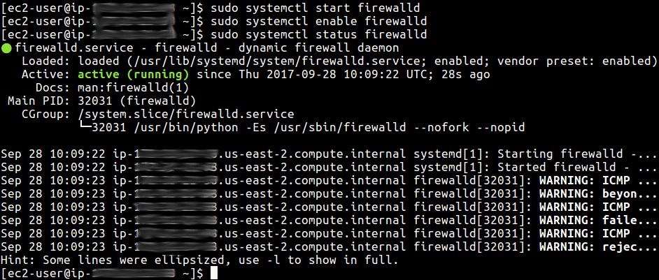 Start and Enable FirewallD