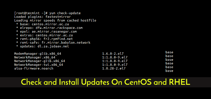 Check and Install Updates On CentOS