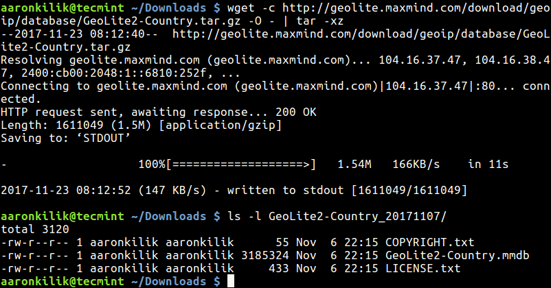 Download and Extract File with Wget