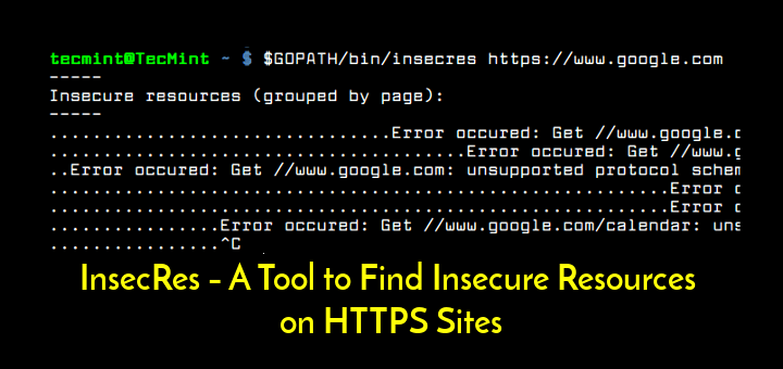 Find Insecure Resources on HTTPS