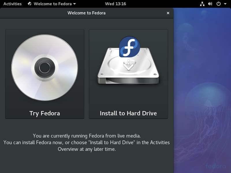 Install Fedora to Hard Drive