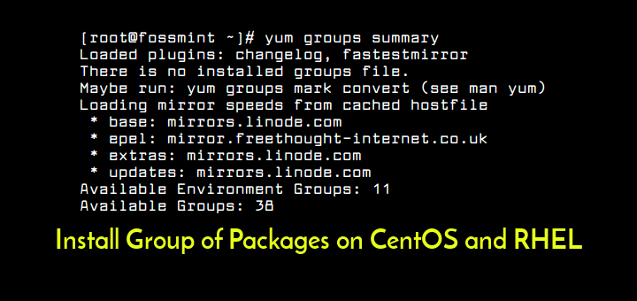 Install Group Packages in CentOS RHEL