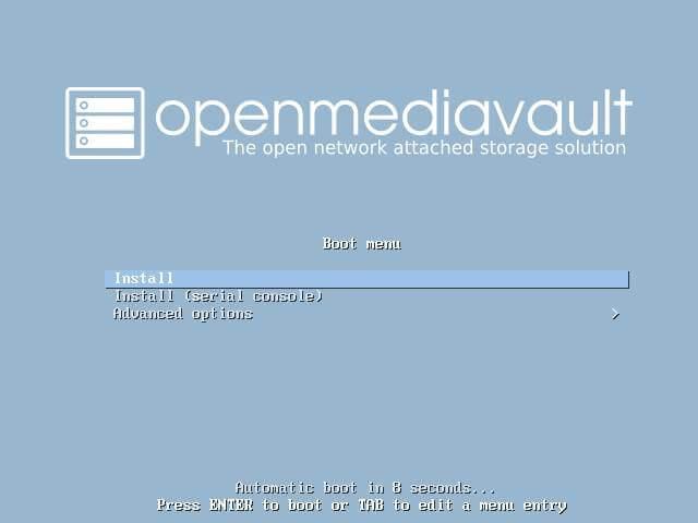 Install OpenMediaVault