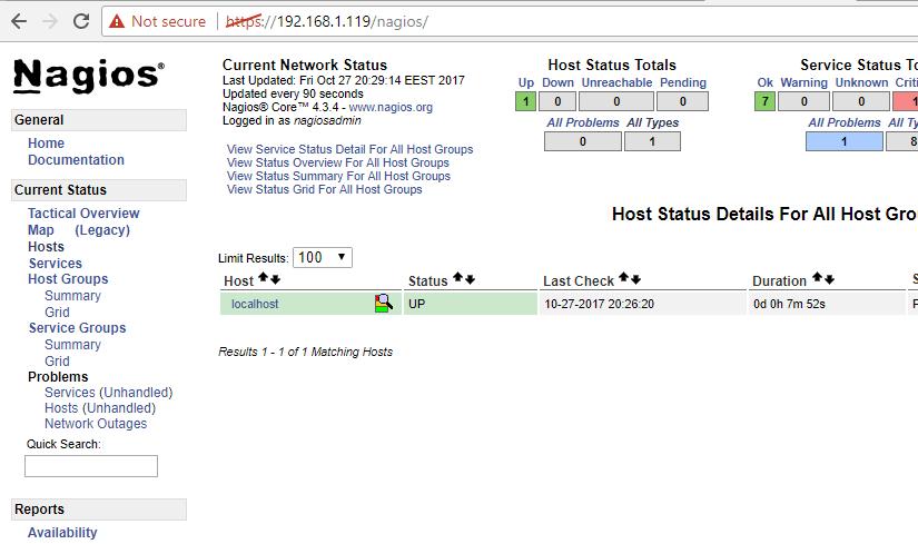 Nagios HTTPS Dashboard