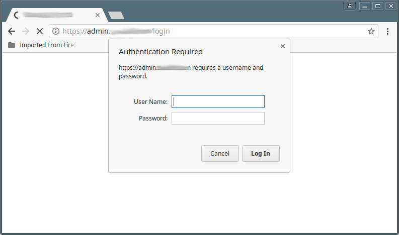 Nginx Basic Authentication