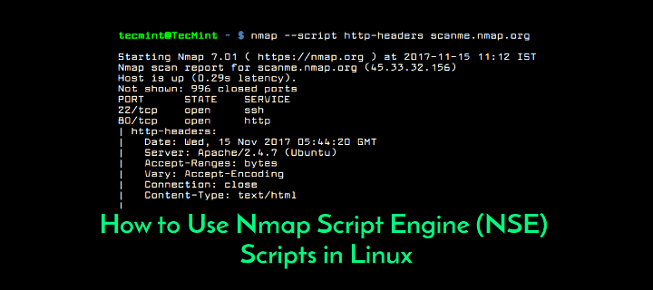 Nmap Script Engine NSE Usage