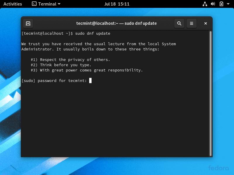 Update Fedora System