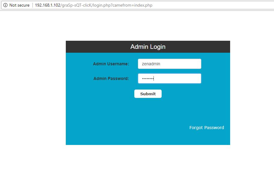ZenCart Admin Login
