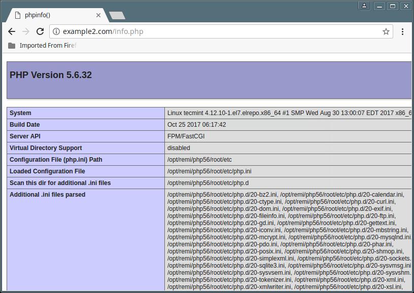 Check PHP 5.6 Version