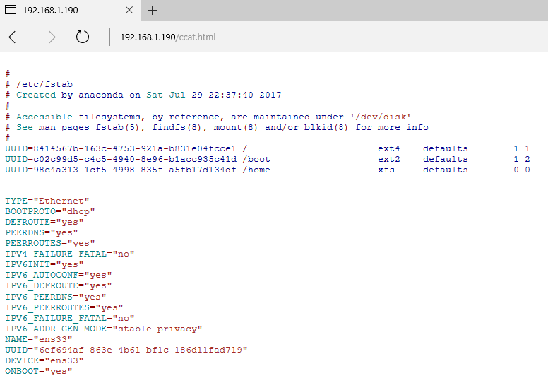 Display File Content in HTML