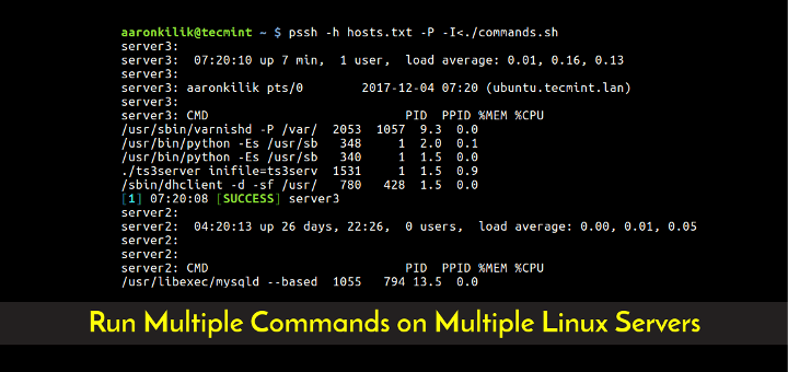 Run Multiple Commands on Multiple Linux