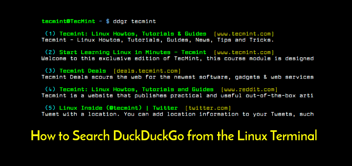 Search DuckDuckGo from Linux Terminal