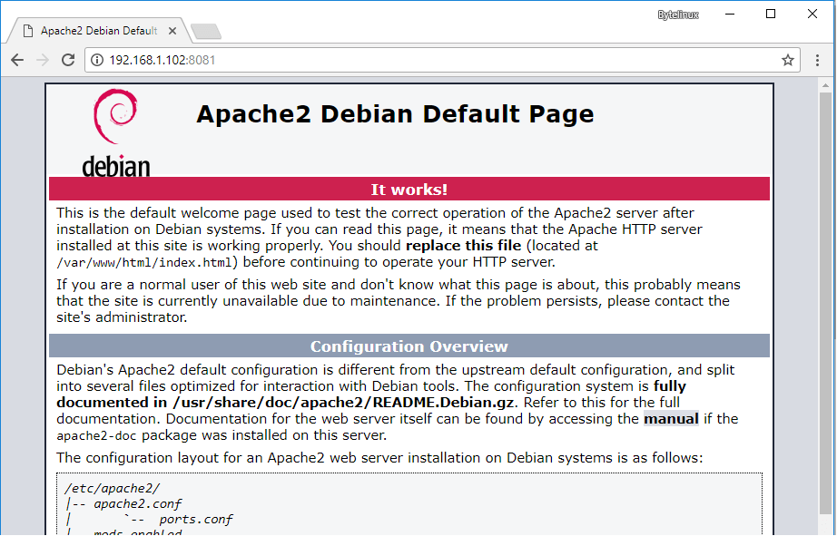 Apache Default Page on Debian and Ubuntu