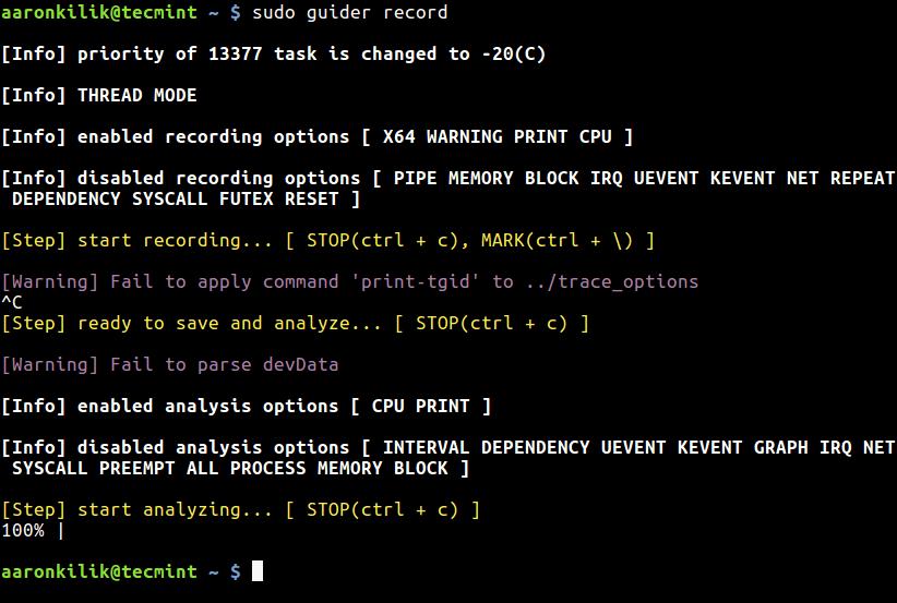 CPU Tracing in Thread Mode