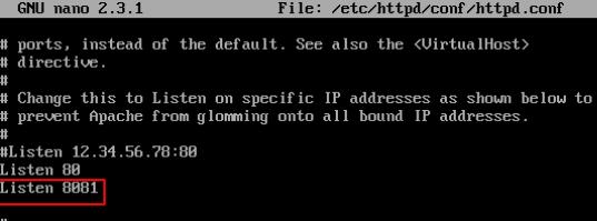 Change Apache Port on CentOS and RHEL