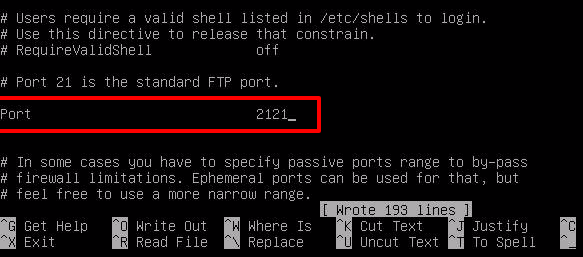 Change FTP Port in Debian & Ubuntu