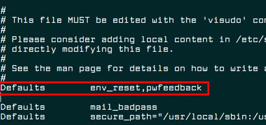 Configure Sudoers File