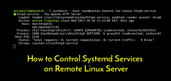 Control Systemd Services on Remote Linux