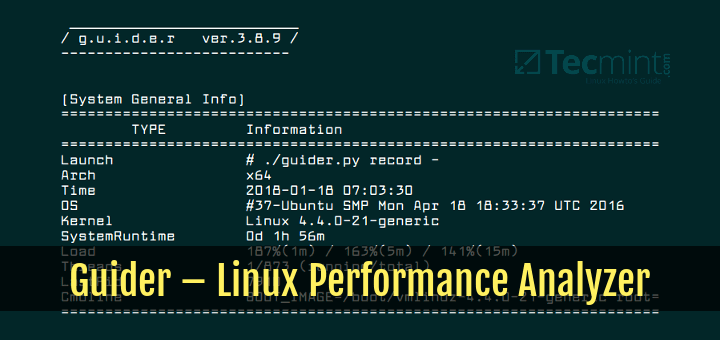 Guider Linux Performance Analyzer