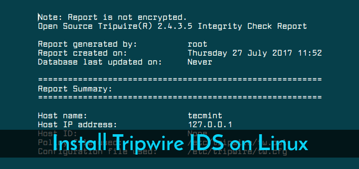 Install Tripwire IDS on Linux