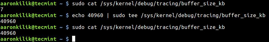 Set Linux Kernel Buffer Size