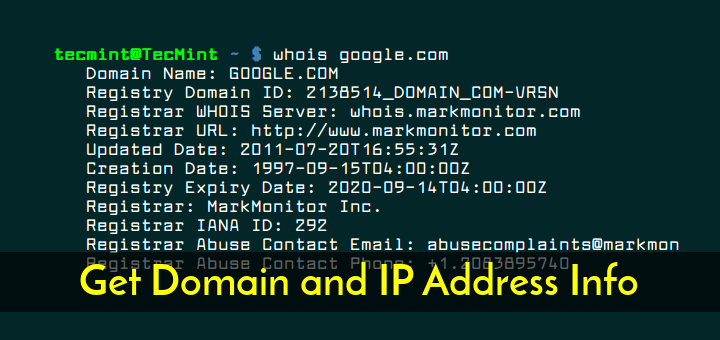 How to Get Domain and IP Address Information Using WHOIS Command