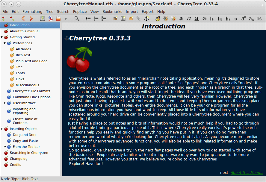 Cherrytree - Note Taking App