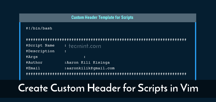 Create Custom Header in Shell Scripts