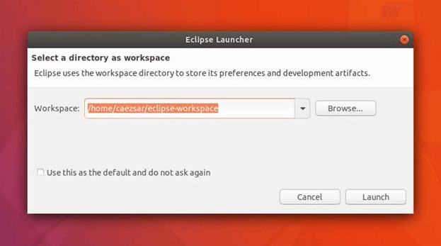 Create Eclipse IDE Desktop Workspace