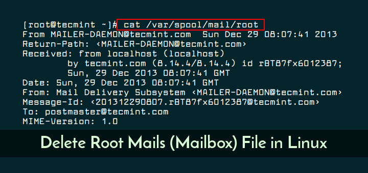 Delete Root User Emails in Linux