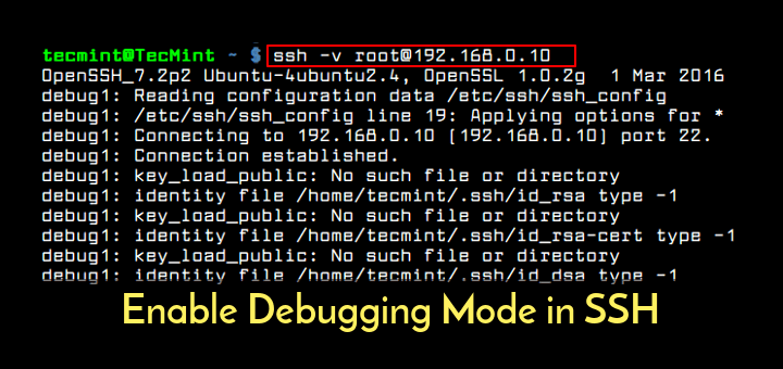 Enable SSH Debug Logging