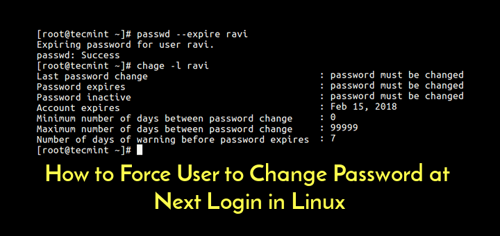 Force User Password Change Next Login