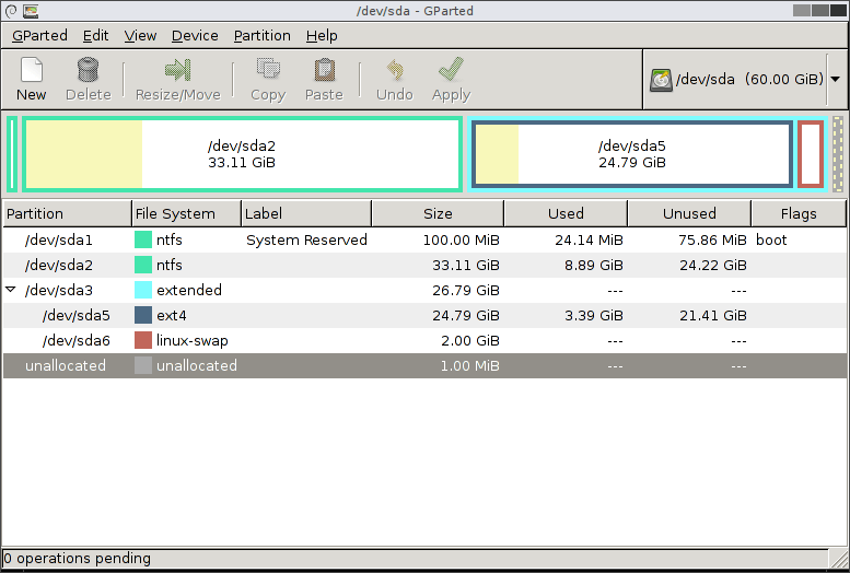 GParted Partition Manager and Editor