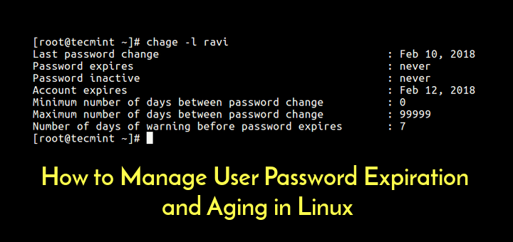 How to Manage User Password Expiration and Aging in Linux