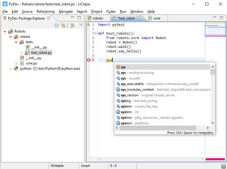 Pydev Python IDE