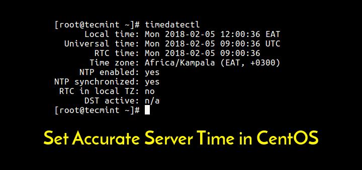 Set CentOS Server Time