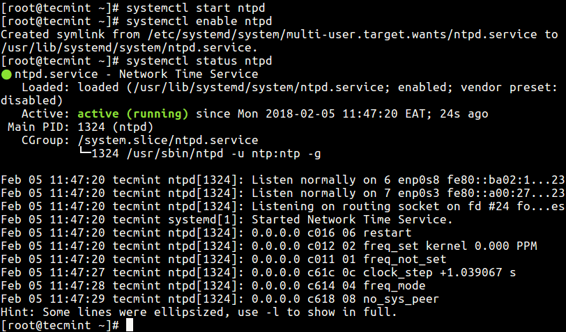 Start NTP Service