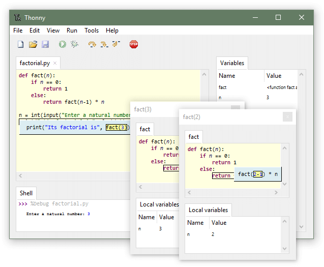Thonny Python IDE