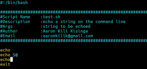 How to Create Custom Header Template for Shell Scripts in Vim