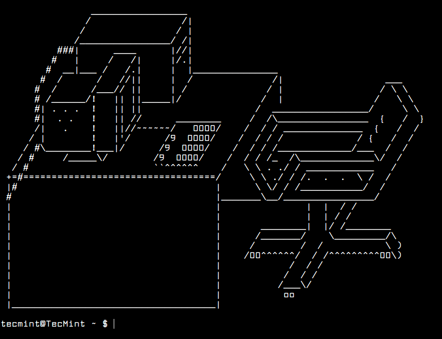 How to randomly display ascii art on linux terminal ascii art example 2 ccuart Choice Image