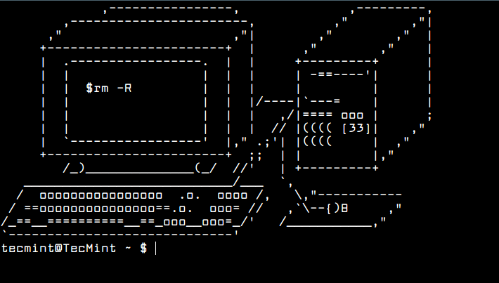 How to randomly display ascii art on linux terminal ascii art example 1 ccuart Choice Image