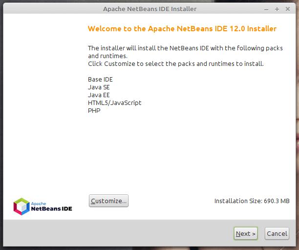 Apache NetBeans IDE Installer