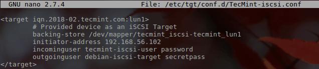 Create LUN Configuration File